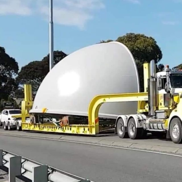 New Observatory Dome Lands At Its New Home